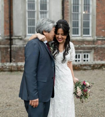 Father holding the bride