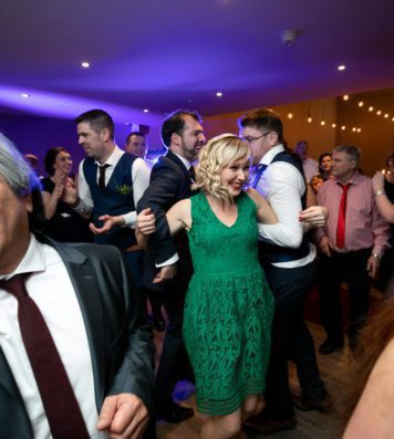 Wedding party with everyone on the dance floor