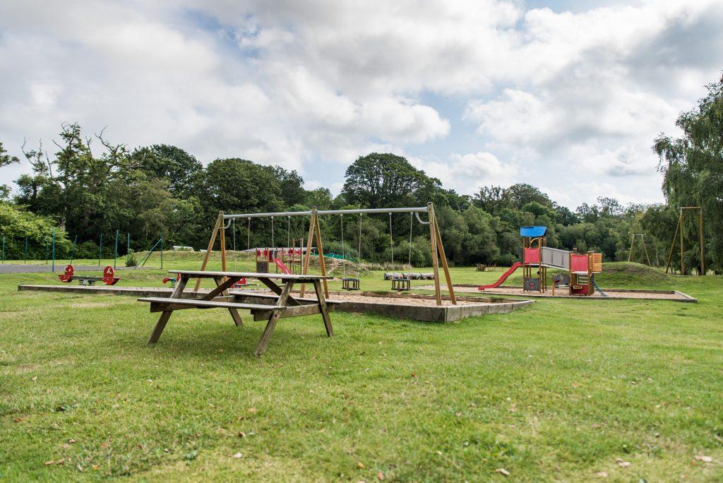 Swings and playground set