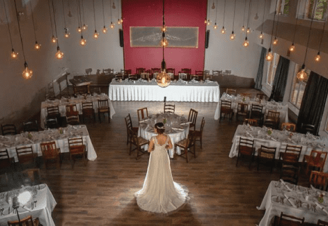 Bride standing in the middle of the dance floor